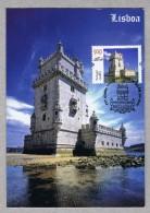 BELEM Tower Monuments Lisboa Portugal Discoveries TRIPLE Carte Maximum Cards Mc595 - Monuments
