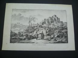 Grèce. Vue Du Couvent De Pathmos. Lithographie Originale De Peetermans. Vers 1840 - Prints & Engravings