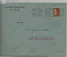 Pro Juventute 1921 J18 Wallis - St. Gallen - Pro Juventute