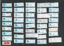 Croatia In Yugoslavia Lot 44 Different R-Zettel ( R-List ).1988 - 1989.Croatian Cities And Villages - Croatia