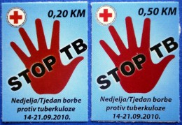 BOSNIA AND HERZEGOVINA BIH FEDERATION HB MOSTAR RED CROSS TBC TUBERCULOSIS 2010 CHARITY STAMPS - MNH - Bosnie-Herzegovine