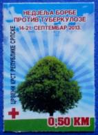 BOSNIA AND HERZEGOVINA REPUBLIC SRPSKA RED CROSS TBC TUBERCULOSIS 2013 CHARITY STAMP - MNH - Bosnia Erzegovina