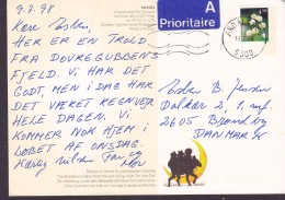 """Norway PPC """"Lilletrollet"""" The Little Troll A-Prioritaire Label ANDALSNES 1998 BRØNDBY STRAND Denmark (2 Scans) - Norwegen"""