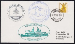 """ANTARCTIC, GERMANY, FS""""POLARSTERN ,12.3.1990 Over Cape Town , 3 Cachets """" ANT  VII/5"""" , Look Scan !! 8.6-19 - Ohne Zuordnung"""