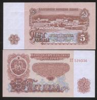 Bulgaria 5 Leva 1974 Pick 95 UNC - Bulgaria