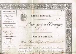 Passeport à L´Étranger Couvent De Reiningue -Hollande-Köln-Aachen-Münster-Rotterdam-Utrecht-Wissembourg 1859 - Manuscrits