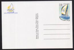 FRANCE 1989-1990 Postal Stationery Pre Stamped Picture POSTCARD COURSE AUTOUR DU MONDE, Boat Ship, Unused - Entiers Postaux
