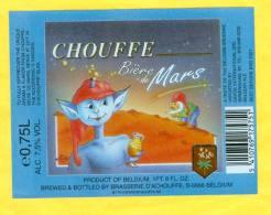 1 étiquette Bière De Mars CHOUFFE 0,75L - Beer