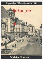Bayreuther Bühnenfestspiele 1942, Hinweise Für KdF Besucher, Kraft Durch Freude , Die Deutsche Arbeitsfront - Programmi