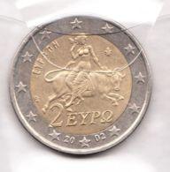 GRECIA 2 Euro 2002 Toro E Zeuss  FDC - Grèce