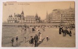 OSTENDE LE KURSAAL ET LA PLAGE 1912 VIAGGIATA FP - Oostende