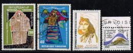 Tunesien 1986/91, Michel# 1120 - 1121, 1138 + 1234 O - Tunesië (1956-...)