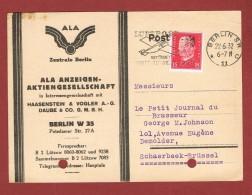 Perfin Firmenlochung Postkarte ALA A.G. Berlin 1932 - Deutschland