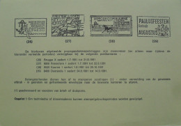 België 1991 Postdienst - Aankondiging Propagandastempels : Roeselare Albrecht Rodenbachstoet -  Kuurne Hippodroom - Documenti Della Posta