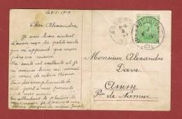 Postkaart Noodstempel Belgique 4 België 4 ; 4/6/1919 Naar Assesse - Postmark Collection