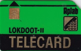 India, APL-GR-02, Green LOKDOOT II - Chip Aplab, Thick Plastic, 2 Scans. - India