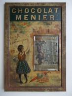 """- Ancienne Plaque En Tôle """" CHOCOLAT MENIER """" - Firmin Bouisset - - Alimentaire"""
