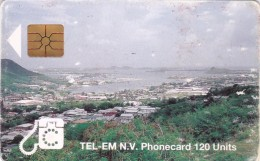 Saint Marteen, STM C4a, 120 Units, Town, 2 Scans. - Antilles (Netherlands)