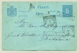 Nederlands Indië - 1897 - Haltestempel TJITJOEROEK Op Briefkaart Naar Batavia - Nederlands-Indië
