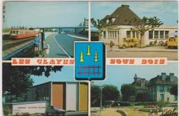 Yvelines : LES   CLAYES  Sous   BOIS  : Vues  (  Poste , Gare, Gymnase.... - Les Clayes Sous Bois