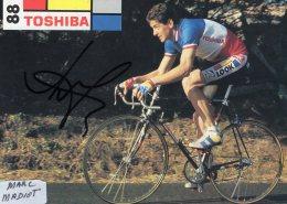 4158 CP Cyclisme  Marc Madiot Dédicacée - Cycling