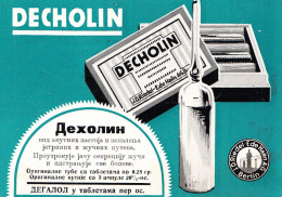DECHOLIN 1929-PHARMACY,MEDICINE - Pubblicitari