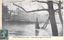 PARIS - INONDATIONS DE 1910 ( Série Paris Inondé Taride ) Crue De La Seine : Vue Prise Du Quai Des Orfèvres - CPA Seine - Paris Flood, 1910