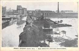 PARIS - INONDATIONS DE 1910 ( Série Paris Inondé Taride ) Crue De La Seine : Rue Lecourbe ( Jardins Maraichers ) CPA - Paris Flood, 1910