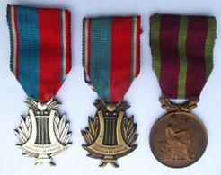 MEDAILLE BRONZE SOCIETES MUSICALES ET CHORALES . J. VATINELLE - Medals