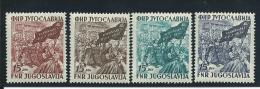 YOUGOSLAVIE: **, N°621 à 624, TB - 1945-1992 République Fédérative Populaire De Yougoslavie