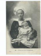 Costume Des Environs De Concarneau 239 GB Femme Enfant Bebe 1905 - Concarneau