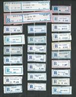 Montenegro In Yugoslavia Lot 26 Different R-Zettel ( R-List ).1988 - 1989.Montenegro Cities And Villages - Montenegro