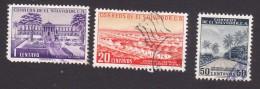 El Salvador, Scott #654, 669, 671, Used, Scenes Of El Salvador, Issued 1954 - El Salvador