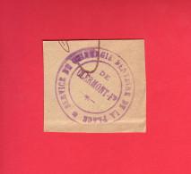 - Marcophilie. Guerre 14-18. Tampon. Cachet Service De Chirurgie Dentaire. CLERMONT FERRAND - - Marcophilie (Lettres)