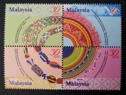 Malaysia Sabah & Sarawak Beads 2001 Traditional Arts Handicrafts Bead (stamp) MNH - Malaysia (1964-...)