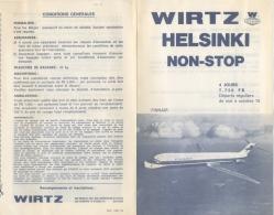 Publicité Wirtz/Finnair. Helsinki , Saison Octobre 1976. + Enveloppe Finnair. - Publicités
