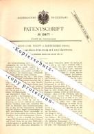 Original Patent - Louis Carl Wolff In Bartenstein / Bartoszyce , Ostpreussen , 1881 , Steuerung Für Dampfmaschine !!! - Ostpreussen