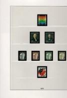 Berlin Lindner Artikel 120 C Vordruckblätter Farbig  Im Ringbinder Mit Schuber 1970 - 1979 Gebraucht Ohne Marken - Albums & Reliures