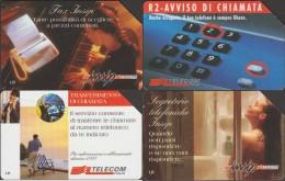 Italie 4 Télécartes Publicitaires. Femme à Poil Et Soie, Piano Et Fax, Téléphone, Chaise. 5000 Et 10000 Lire - Italie