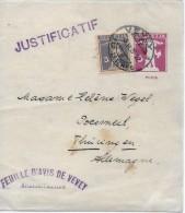 VEVEY → Ganzsache/Streifband Vevey Nach Thüringen Deutschland 1927 ►seltener Stempel JUSTIFICATIF◄ - Ganzsachen