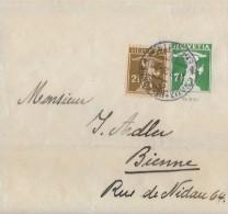 LA CHAUX DE FONDS → Ganzsache / Streifband La Chaux De Fonds Nach Biel 1929 ►Zusatzfrankatur◄ - Stamped Stationery