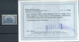 DR-Germania FRIEDENSDRUCK 95AI LUXUS**POSTFRISCH BPP BEFUND 360EUR (73275 - Unused Stamps