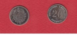 ---  20 Pfennig 1876 G -- - [ 2] 1871-1918 : Impero Tedesco