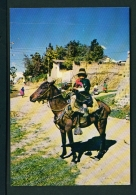ECUADOR  -  El Quinche  Girl Riding  Unused Postcard - Ecuador