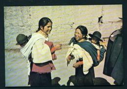 ECUADOR  -  Otavalo  Aborigine People With Children Unused Postcard - Ecuador