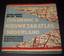 1930s, Tenbrink´s Nieuwe Zakatlas Van Nederland - 12 Maps - 6 Scans - Boeken, Tijdschriften, Stripverhalen