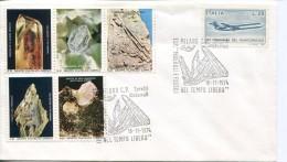 10173 Italia, Special Postmark 1974 Milano,  Minerals - Minéraux