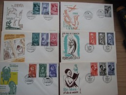 Brief 31 - Spanien - Espana - Fernando Poo - IFNI - Rio Mundi - Sahara - 1959/61 - Primere Dia Emision - FDC - 15 Briefe - Spanien
