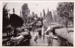 Mexico Oochimilco River Scene Real Photo