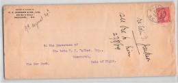 L1035 CANADA  C.F. JACKSON 6 CO. LTS VANCOUVER TO BONCHURCH ISLE OF WIGHT - 1903-1908 Règne De Edward VII